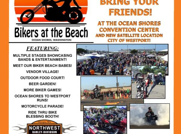2019 Bikers at the Beach poster.