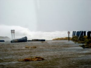 Damon Point. The road continued for miles until this 2007 storm. Now there is nothing but ocean here.