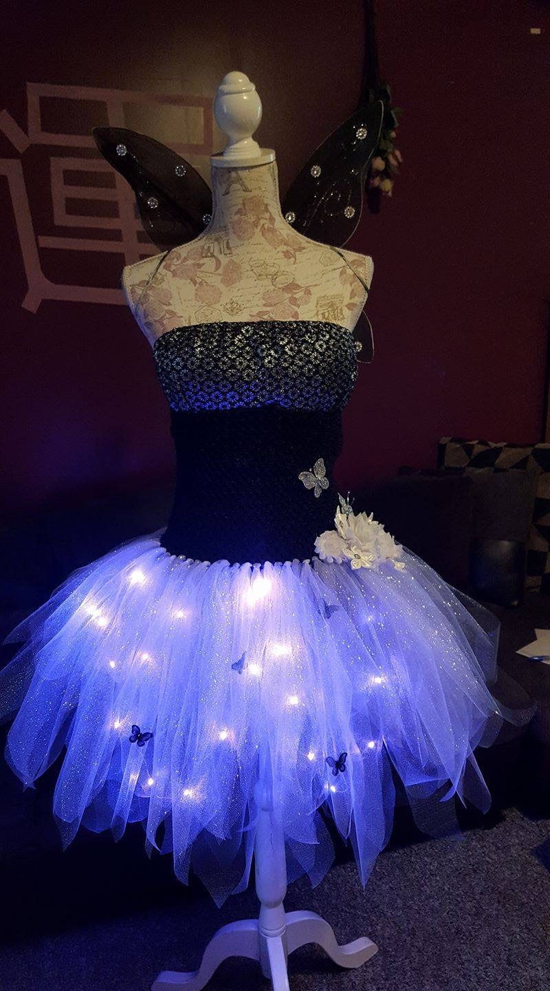 Vendor All Tutus Aren't Pink specializing in dark (and light up) tutus.