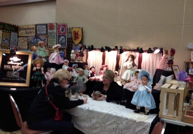 Antique Doll Booth at the Ocean Shores Antique Show.