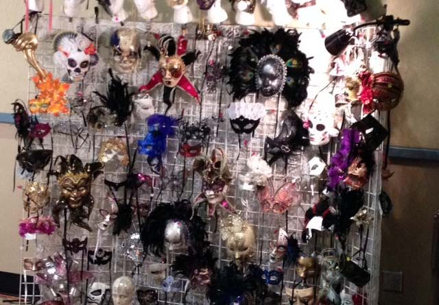 Antique Mask Booth at the Ocean Shores Antique Show.