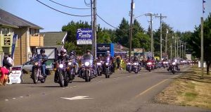 Ocean Shores motorcycle parade.